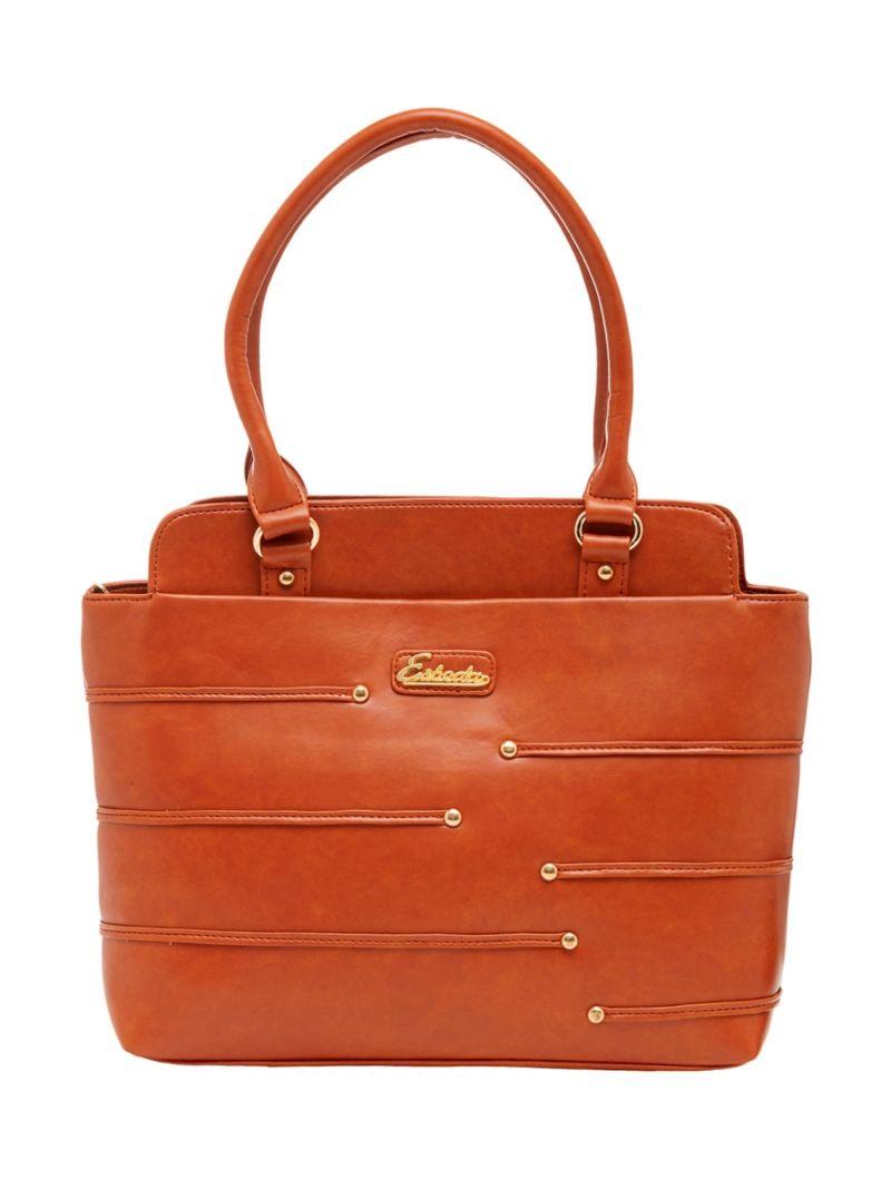 Buy Esbeda Tan Color Solid Pu Synthetic Material Handbag For Women-1871 online