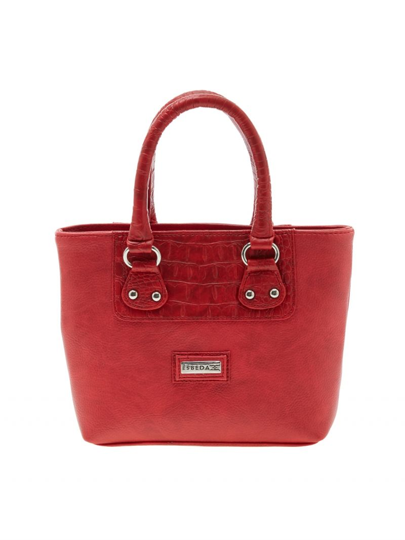 Buy Esbeda Red Solid Pu Synthetic Material Handbag For Women-1912 online