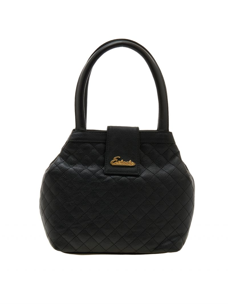 Buy Esbeda Black Checks Pu Synthetic Material Handbag For Women online