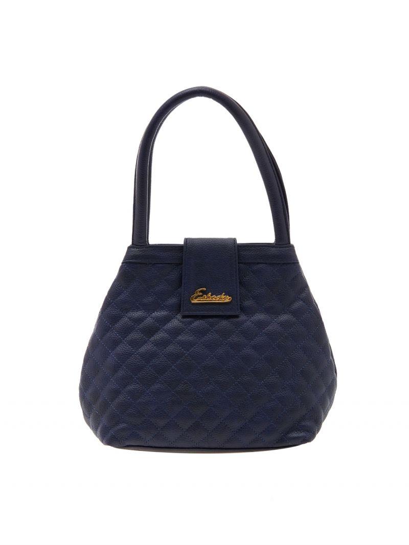 Buy Esbeda Dark Blue Checks Pu Synthetic Material Handbag For Women-1926 online