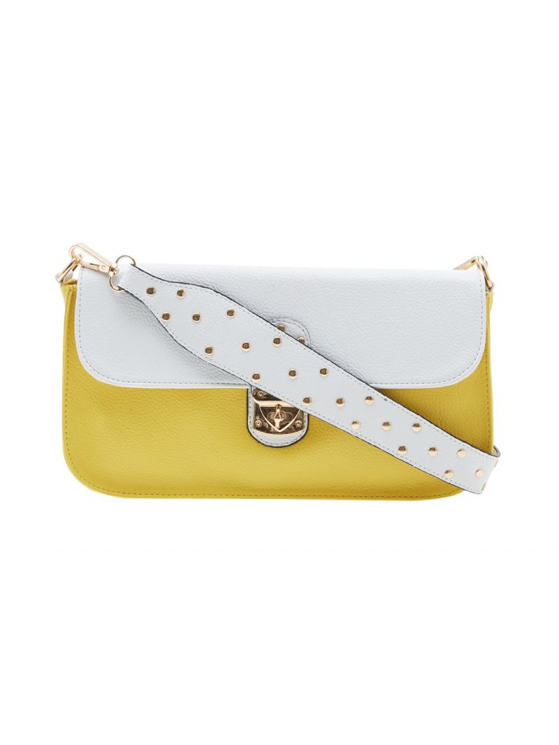 Buy Esbeda Yellow Solid Pu Synthetic Material Slingbag For Women online