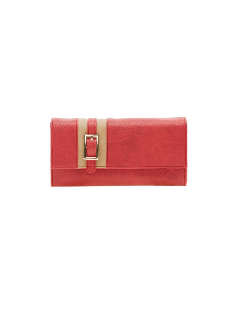 Buy Esbeda Red Solid Pu Synthetic Material Wallet For Women-1967 (code - 1967) online