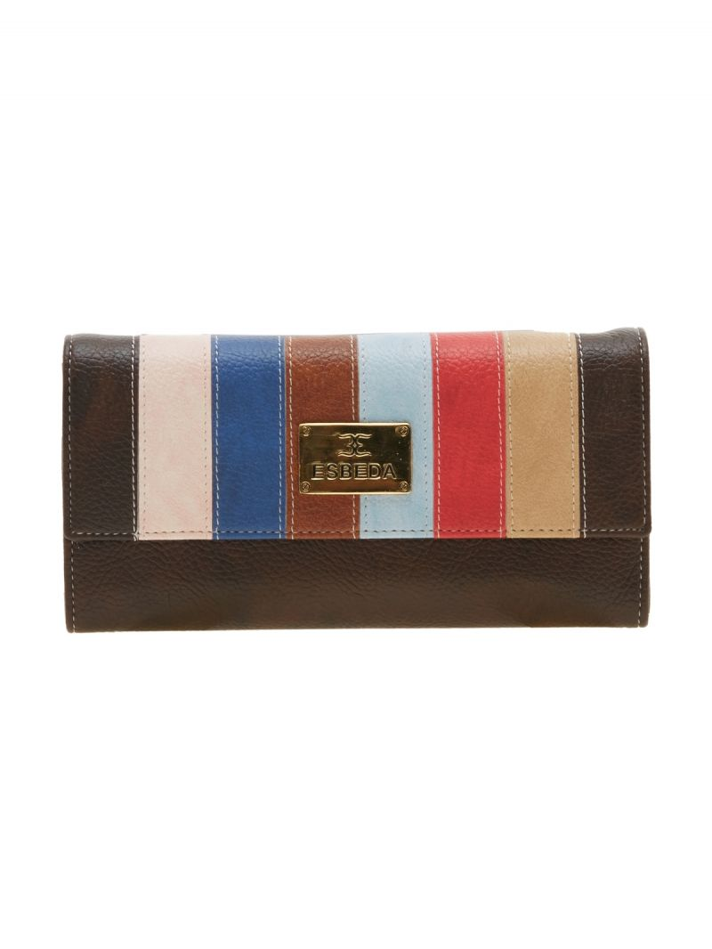 Buy Esbeda Brown Solid Pu Synthetic Material Wallet For Women-1978 (code - 1978) online