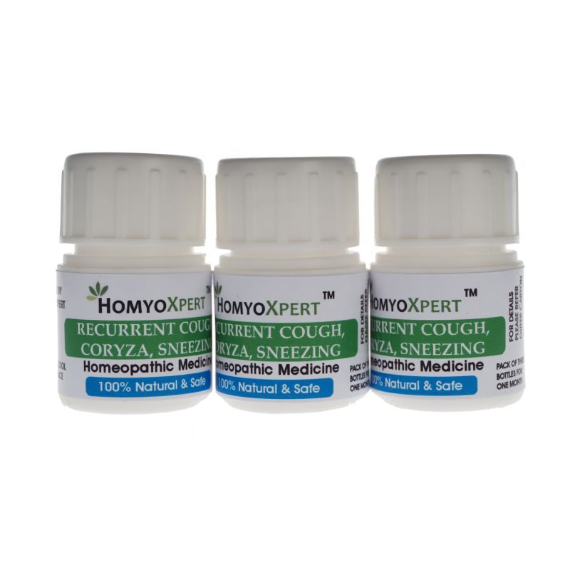 Buy Homyoxpert Recurrent Cough, Coryza, Sneezing Homeopathic Medicine For One Month online