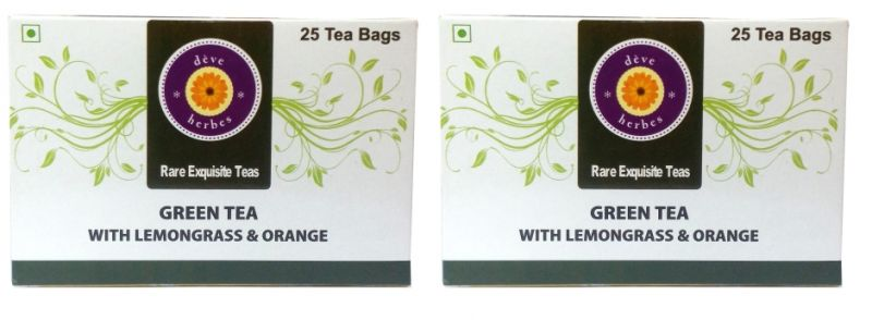 Buy Green Tea With Lemongrass & Orange (pack Of Two) - 50 Tea Bags online