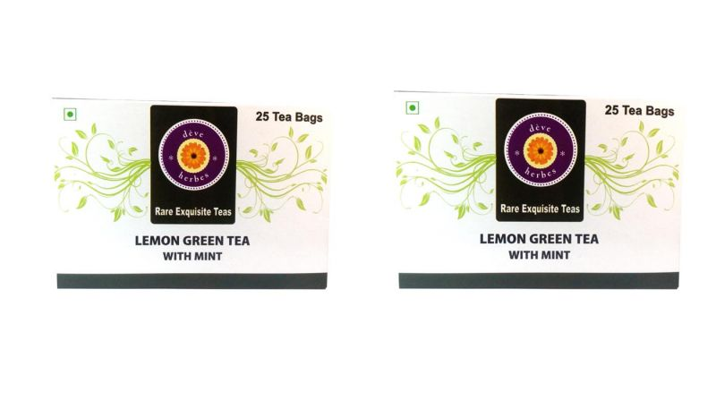 Buy Lemon Green Tea With Mint (pack Of Two) - 50 Tea Bags online