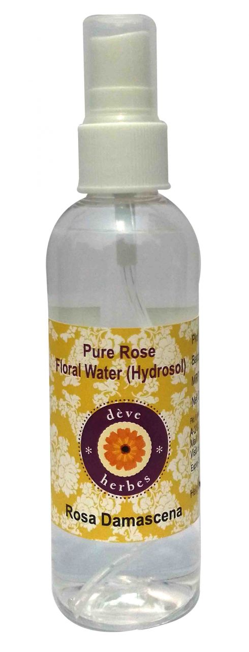 Buy Natural Rose Floral Water (hydrosol) 100ml - Rosa Damascena online
