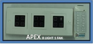 Buy Apex Remote Controlled Touch Switch Board For 8 Lights & 1 Fan online