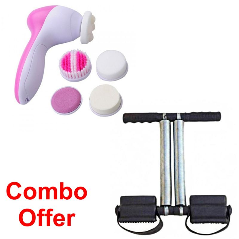Buy Deemark Combo Of 5 In 1 Beauty Massager With Tummy Trimmer online