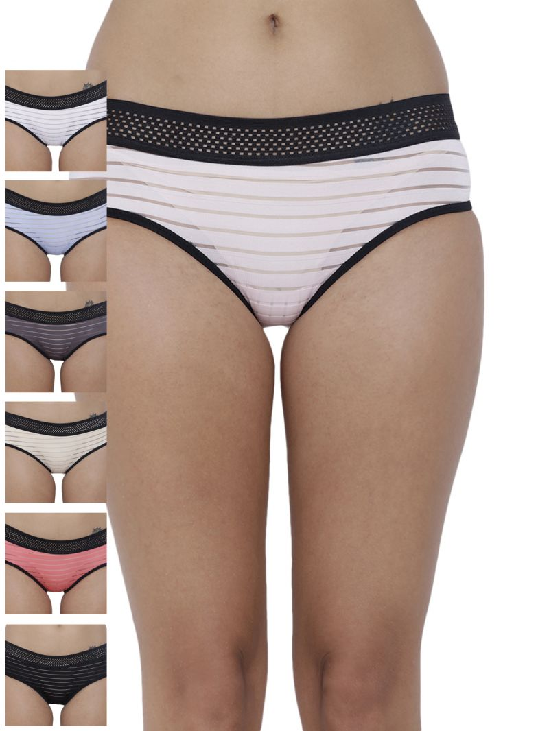 Buy Basiics By La Intimo Women's Frio Hot Brief Panty (Combo Pack of 7) online