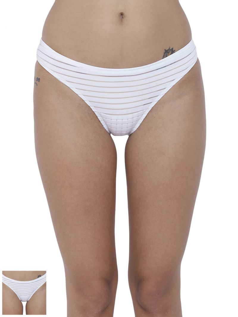 Buy Basiics By La Intimo Women's Travieso Naughty Brief Panty (Combo Pack of 2) online