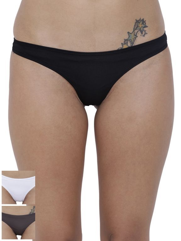 Buy Basiics By La Intimo Women's Spiffy Semiseamless Panty (Combo Pack of 3 ) online