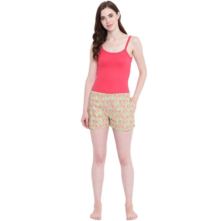 Buy La Intimo Sheep Love Fawn shorts online
