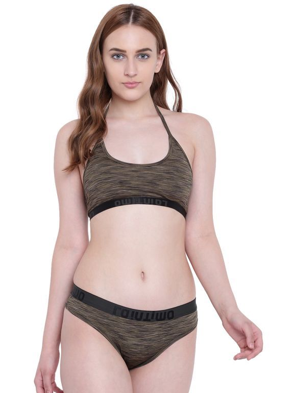Buy La Intimo AquaChick Bikini Olive Melange Resort/Beach Wear online