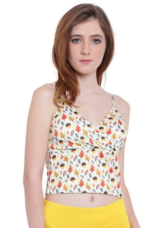 Buy Multi (Digital Prints )a Intimo Fash Melange Cropped Camisole online