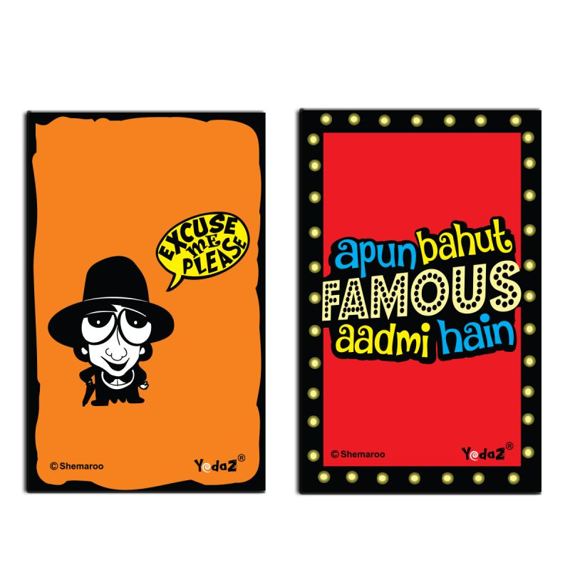 Buy Yedaz Wooden/mdf Bollywood Kitchen Fridge Magnet Excuse Me & Famous Aadmi online