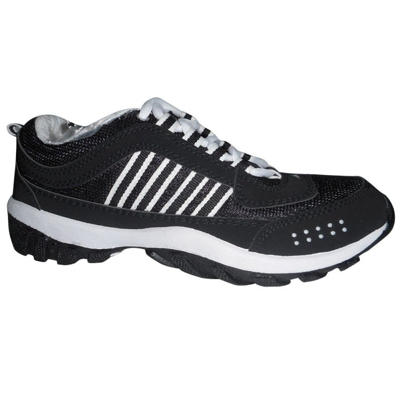 Buy Binqo Sports Cool Air Black And White Running Shoes online