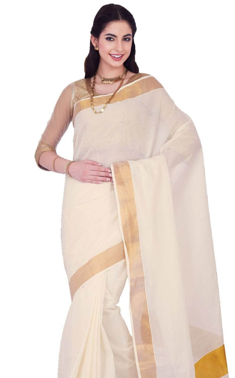 Buy Sudarshan Silks White Rawsilk Geometric Print Saree online
