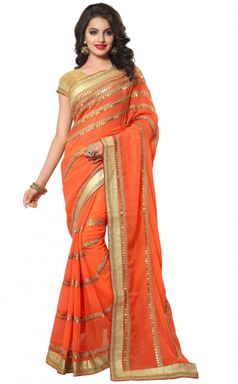 Buy Sudarshan Silks  Pink  Georgette  Saree online