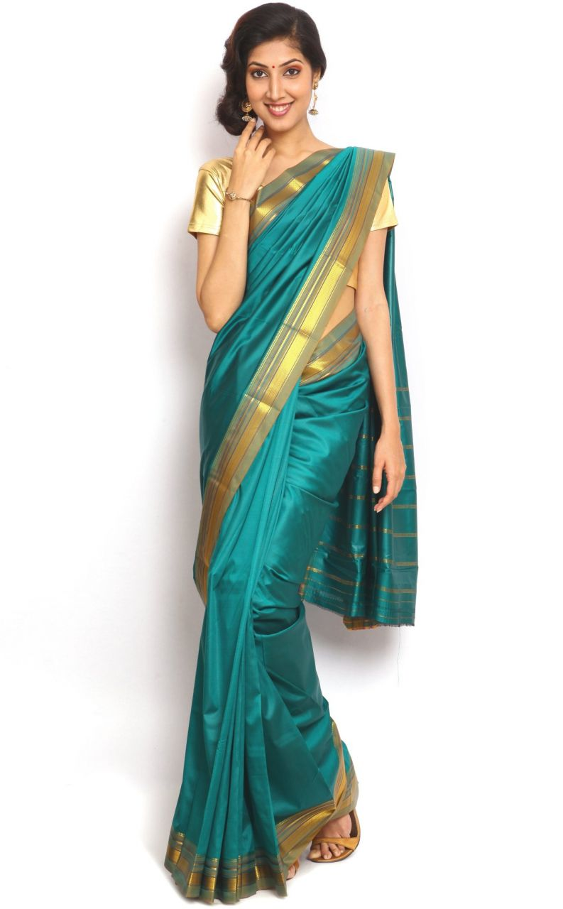 Buy Sudarshan Silks Blue Art Silk Saree-vsns4 online