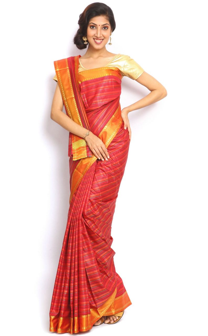 Buy Sudarshan Silks Red Art Silk Saree-vsns9 online