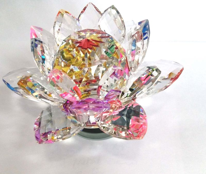 Buy multi color revolving crystal lotus fengshui lotus flower fengshui lotus flower kamal 33 mightylinksfo Image collections