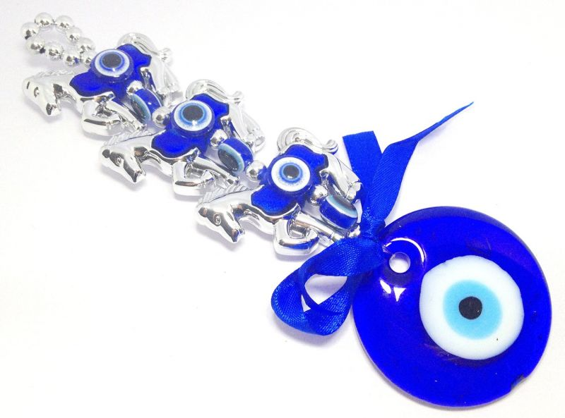 Buy 3 Horse Evil Eye Repellent Hanging For Protection online