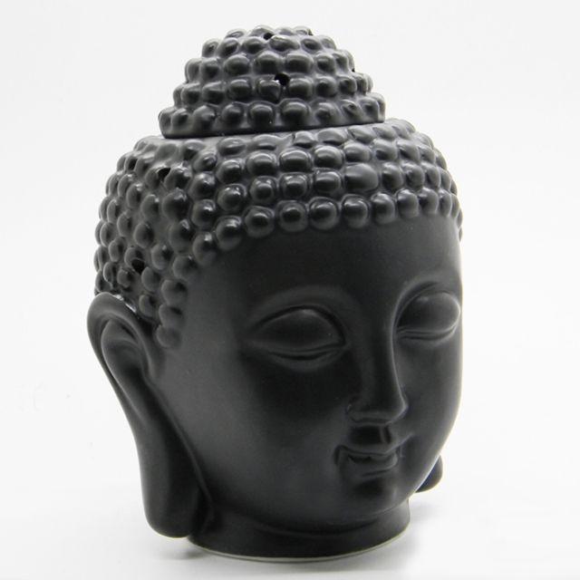 Buy Antique Handcrafted Buddha Lantern For Corporate: Buy Black Ceramic Buddha Head Fragrance Oil Warmer Lamp (6
