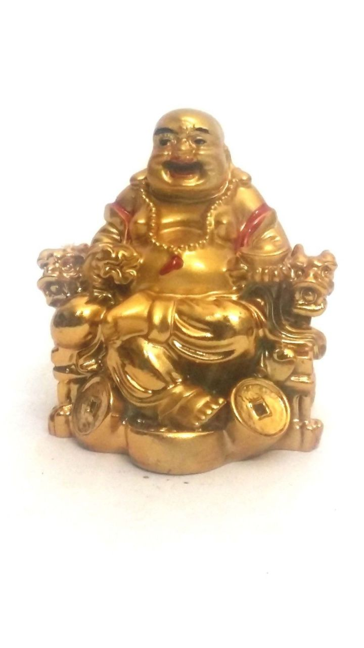 Buy Laughing Buddha Sitting On Chair For Prosperity & Wealth online
