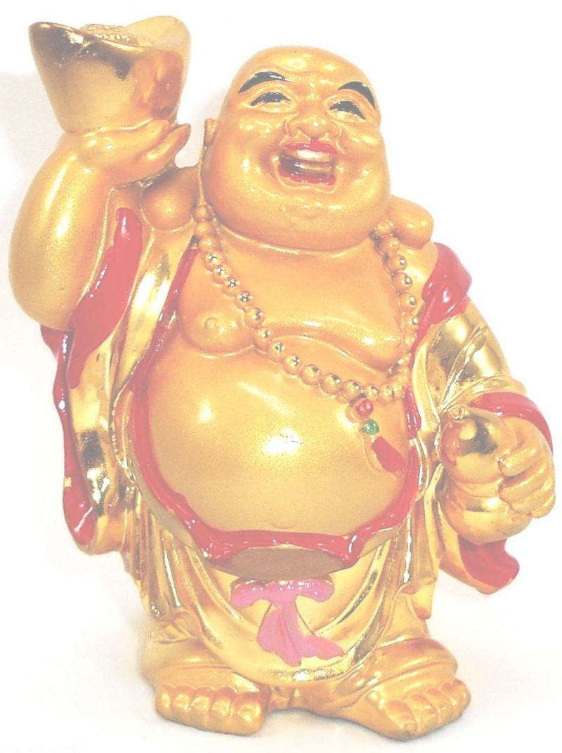 Buy Big Laughing Buddha Stands With Wu Lou & Ingot online