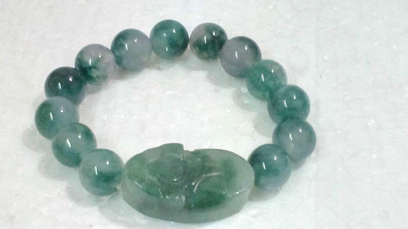 Buy Pi Yao With Green Jade Bracelet For Protection Prosperity And Luck online