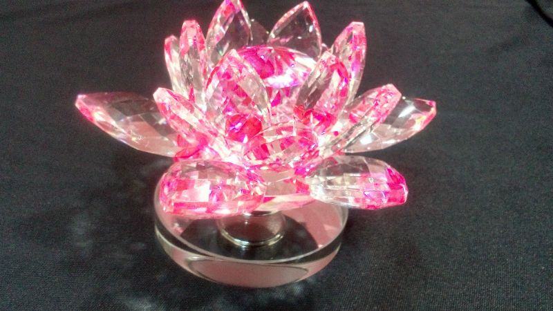Buy crystal lotus pink clear color lotus flower fengshui lotus buy crystal lotus pink clear color lotus flower fengshui lotus flower online mightylinksfo