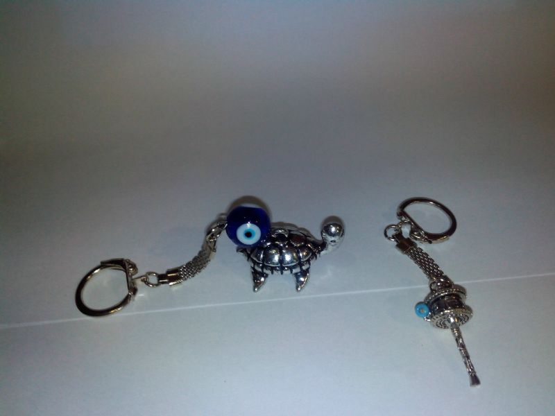 Prayer Wheel Key Ring Plus Evil Eye With Tortoise Key Ring Key Chain