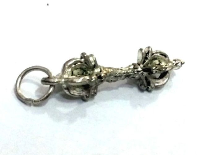 Buy Tibetan Vajra ( Dorje ) White Metal Pendant For Luck And Protection online