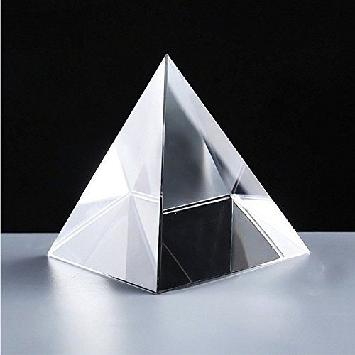 Buy Crystal Glass Pyramid For Good Luck And Positive Energy online