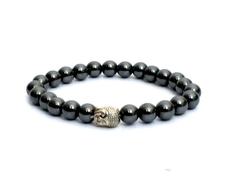 Buy Haematite Mala Buddha Head Power Stretch Bracelet online