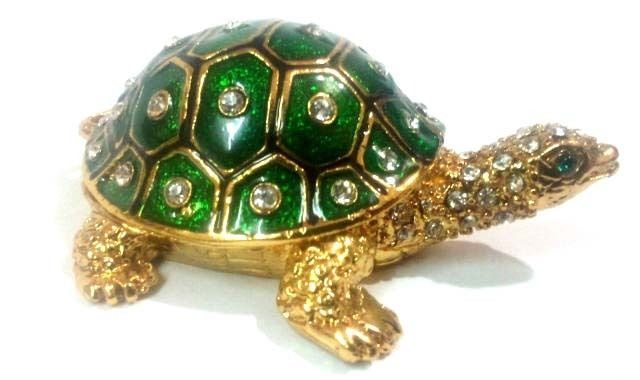 Buy Bejeweled Tortoise For Good Fortune And Luck With Secret Wish Compartment online