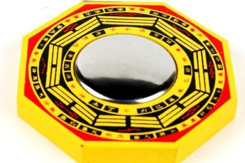 Buy Bagua Mirror (wooden) (3x3 Inches) For Good Fortune Pakua Mirror Fengshui online