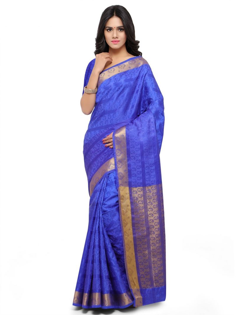Buy De Marca Blue Colour Art Silk Saree (product Code - Tsklil49007) online