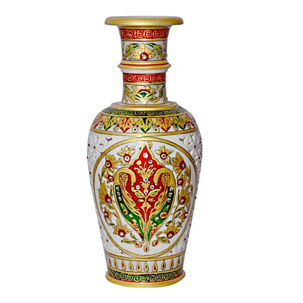 Buy Marble Flower Vase 12 from Rajasthan online