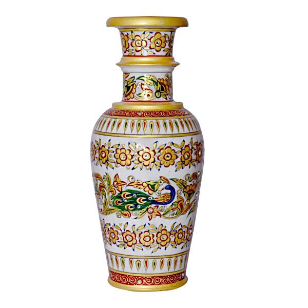 Buy Marble Flower Vase 15 from Rajasthan online
