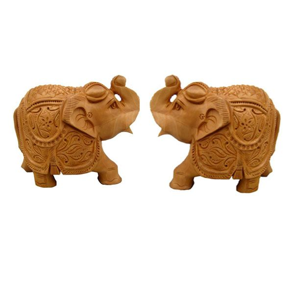 Buy Wooden Elephant Pair Chwe2708 online