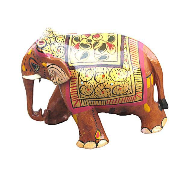 Buy Handicraft Wooden Elephant from Rajasthan online