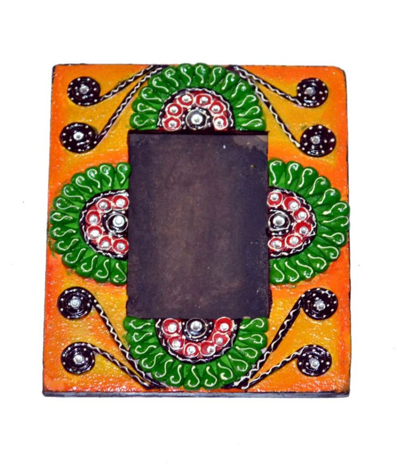 Buy Yellow Art Work Photo Frame from Rajasthan online