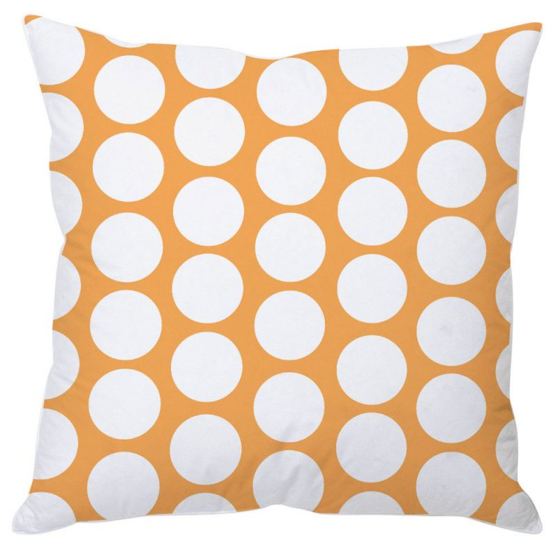 Buy White Polka Dots Cushion Cover online
