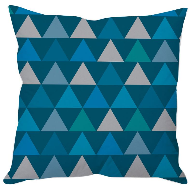 Buy Blue Triangle Abstract Art Cushion Cover online