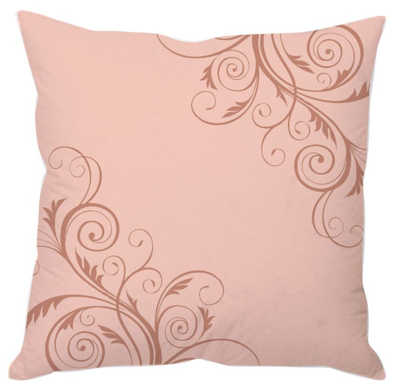 Buy Pink Vine Abstract Art Cushion Cover online
