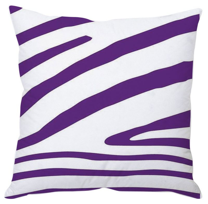 Buy Purple Stripes Cushion Cover online