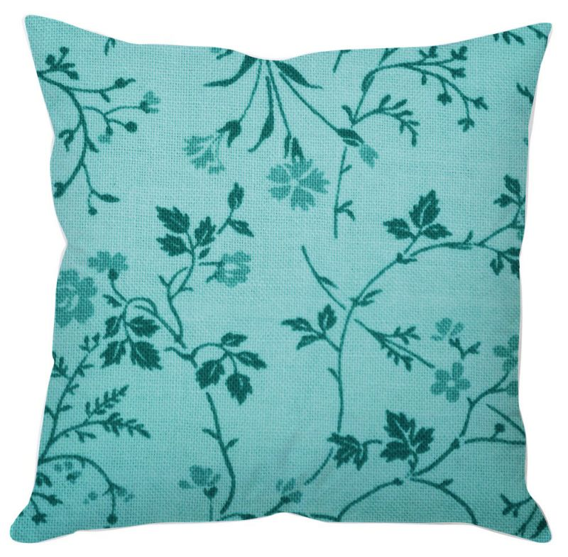 Buy Blue Leaves Painting Cushion Cover online