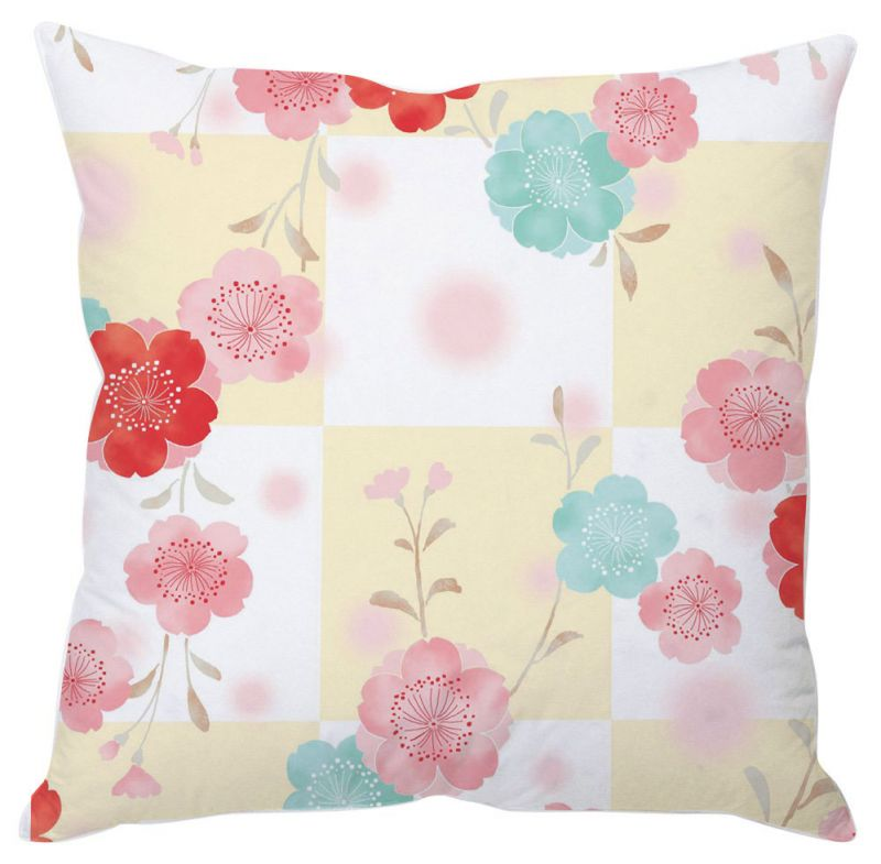 Buy Flowers In Blocks Cushion Cover online